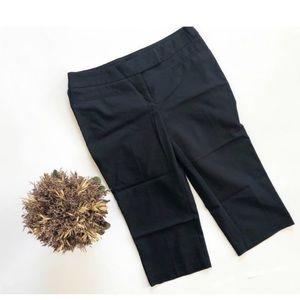 Womens Apt 9 Black Dressy Bermuda Shorts - Sz 6P